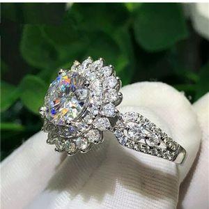 925 Silver Rings for Women Fashion White Sapphire